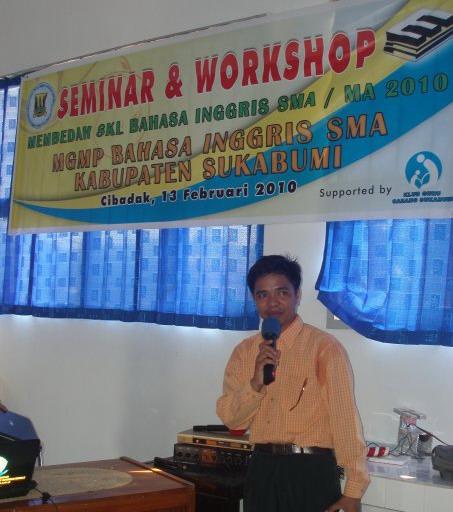 Jasmansyah, Ketua umum MGMP Bahasa Inggris SMA kAB. Sukabumi